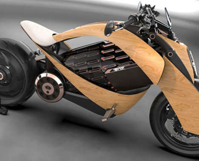 Wooden motorcycle | HMH Agency